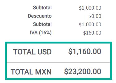 total cuenta factura alegra multimoneda mex